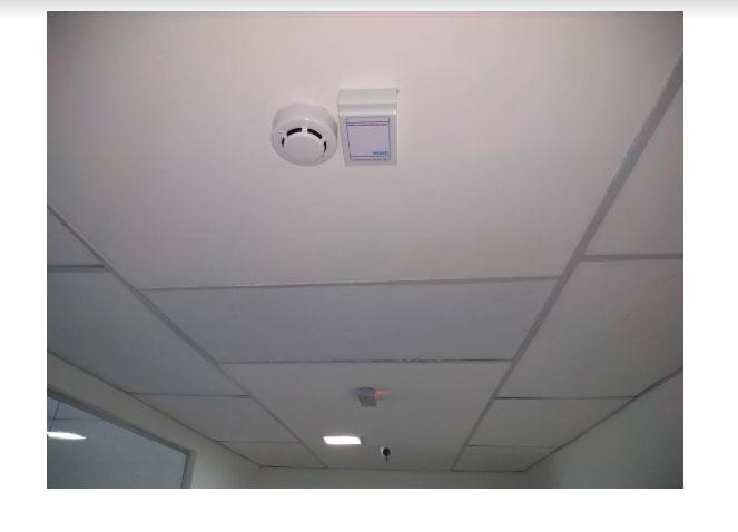 Instalação detector de fumaça