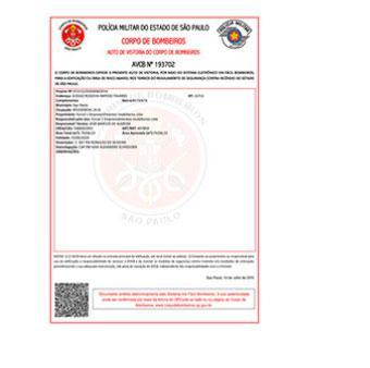 Laudo de sistema de segurança contra incêndio