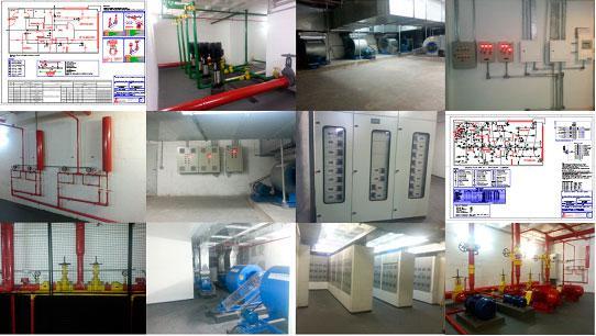 Manutenção em sistema de pressurização de escadas de emergência