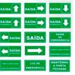 Placas de sinalização de emergência preço